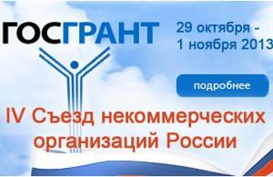 Участие в IV Съезде некоммерческих организаций России