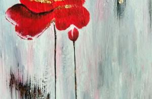 Мастер-класс живопись акрилом с поталью.